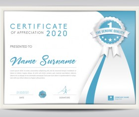 Vector certificate template with diploma design 01
