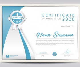 Vector certificate template with diploma design 02