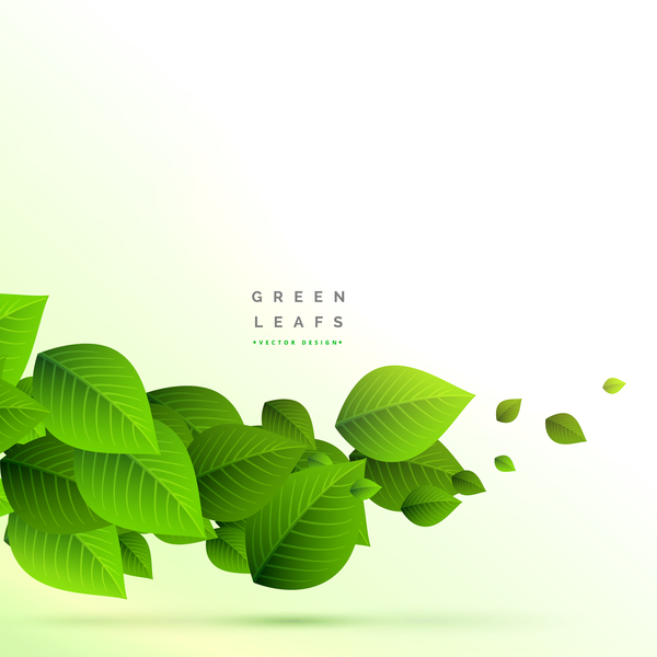 Vector green leaves background design 01