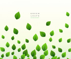 Vector green leaves background design 02