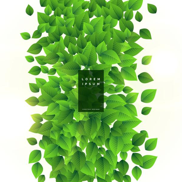 Vector green leaves background design 03