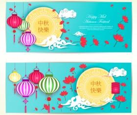 Vector mid autumn festival banner vector 02