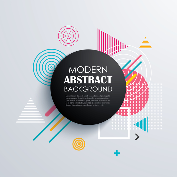 Vector modern abstract background material 01