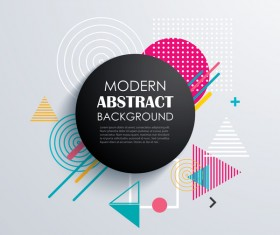 Vector modern abstract background material 02