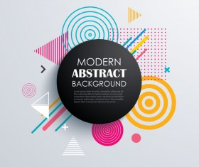 Vector modern abstract background material 03