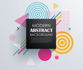 Vector modern abstract background material 04