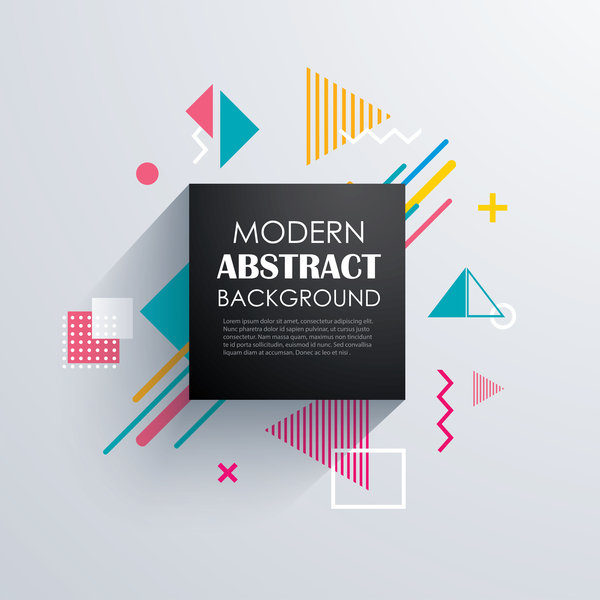 Vector modern abstract background material 06