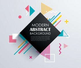 Vector modern abstract background material 07
