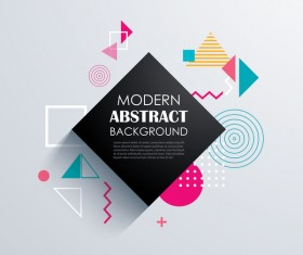 Vector modern abstract background material 08