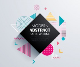 Vector modern abstract background material 09