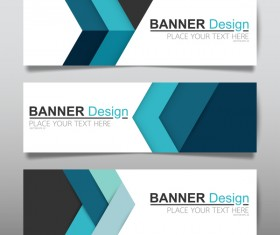 Vector set of modern banners template design 01
