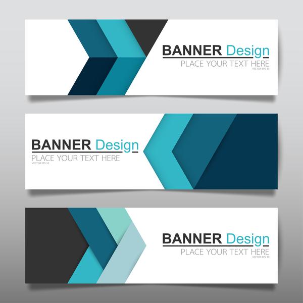 Vector set of modern banners template design 01