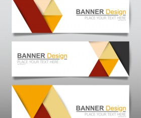 Vector set of modern banners template design 02