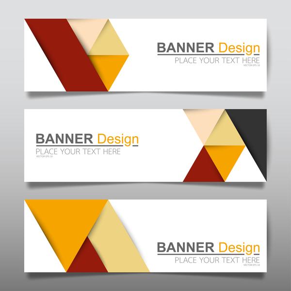 Vector set of modern banners template design 02