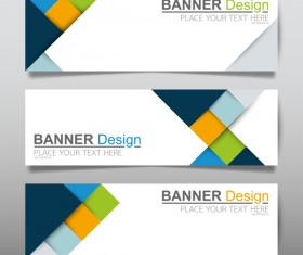 Vector set of modern banners template design 03