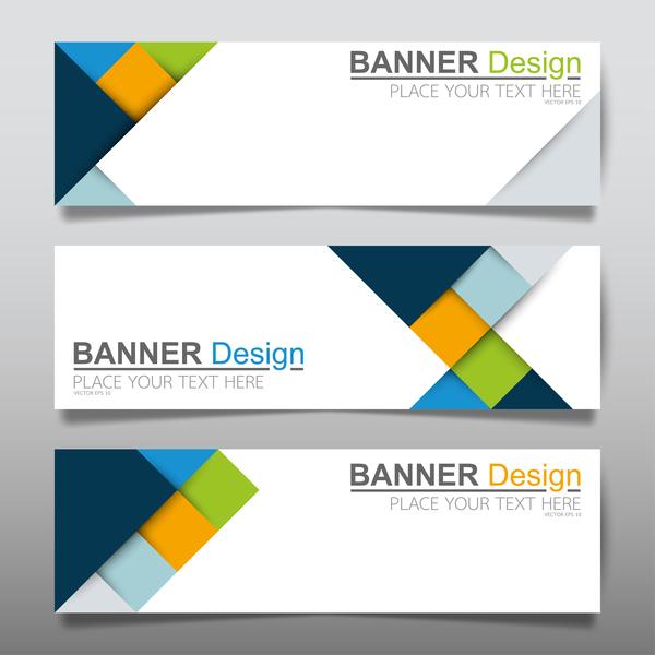 Vector set of modern banners template design 03