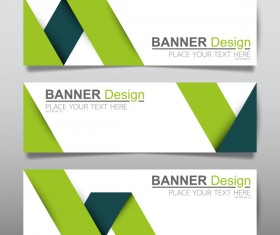 Vector set of modern banners template design 04