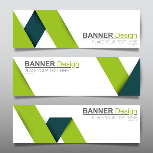 Vector set of modern banners template design 04