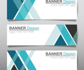 Vector set of modern banners template design 05