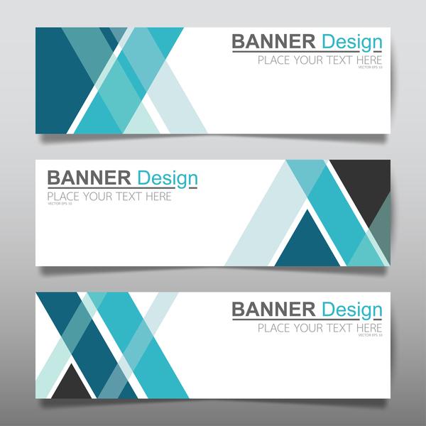 Vector set of modern banners template design 05