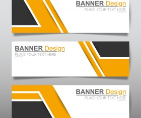 Vector set of modern banners template design 06