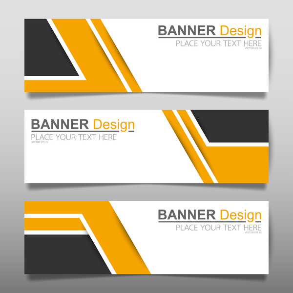 vector set of modern banners template design 06 free download