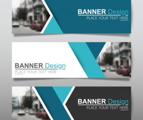 Vector set of modern banners template design 07