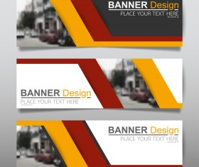 Vector set of modern banners template design 08