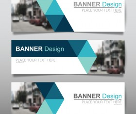 Vector set of modern banners template design 09