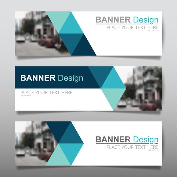 Vector set of modern banners template design 09