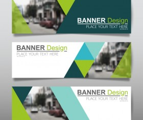 Vector set of modern banners template design 10