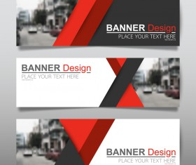 Vector set of modern banners template design 11