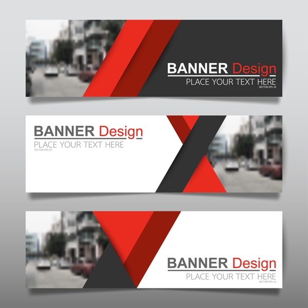 vector set of modern banners template design 11 free download