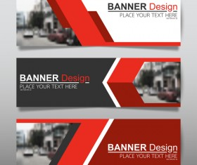 Vector set of modern banners template design 12