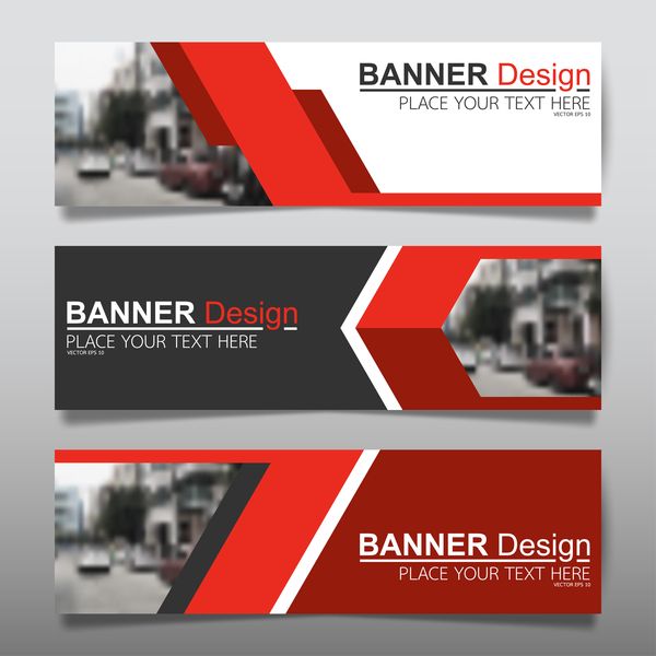 Vector Set Of Modern Banners Template Design 12 Vector