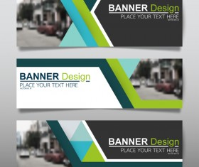 Vector set of modern banners template design 14