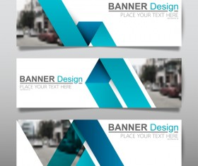 Vector set of modern banners template design 15