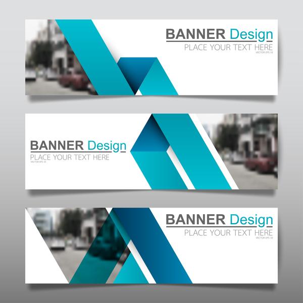 Vector set of modern banners template design 15