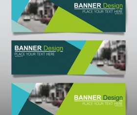 Vector set of modern banners template design 16