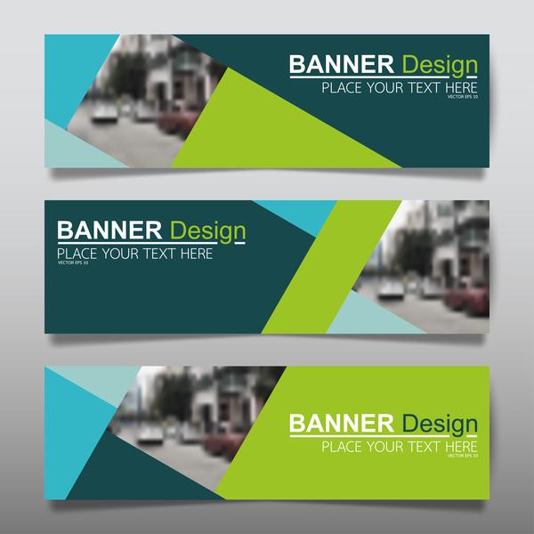 Vector set of modern banners template design 16