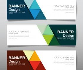 Vector set of modern banners template design 17