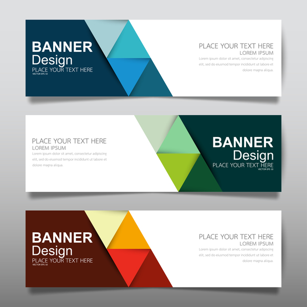 Vector set of modern banners template design 17