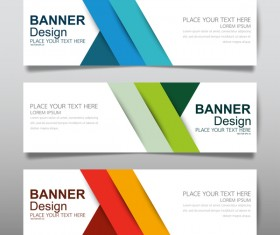 Vector set of modern banners template design 18