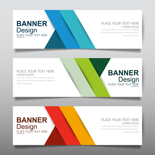 Vector set of modern banners template design 18