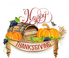 Vector thanksgiving day labels set 01