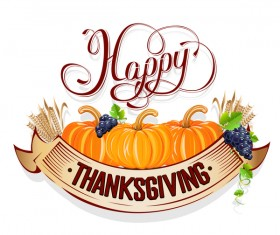 Vector thanksgiving day labels set 03