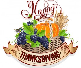 Vector thanksgiving day labels set 04