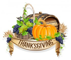 Vector thanksgiving day labels set 07