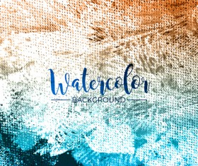 Watecolor textured background vector 06