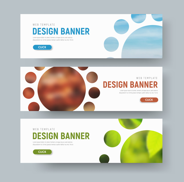 Web banners shapes vector material 01
